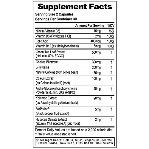 Evlution Nutrition Trans4orm Thermogenic Energizing Fat Burner Supplement, Increase Weight Loss, Energy and Intense Focus (30 Serving)