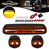 03 chevy 2500 hd cab lights - Partsam 3PCS Amber Lens Yellow 30 LED Cab Marker Roof Clearance Lights Assembly for 2002 - 2007 Chevy Silverado/GMC Sierra 1500 1500HD 2500 2500HD 3500