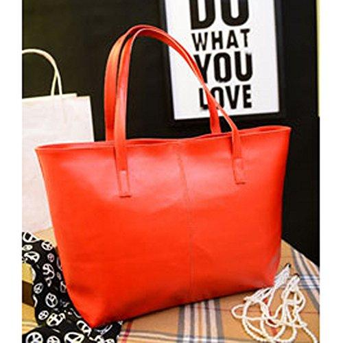 Sac Sac ESAILQ Sac main Femme Sac Rouge main main à bandoulière à à cuir à Messenger Mode en 0UqxfR01