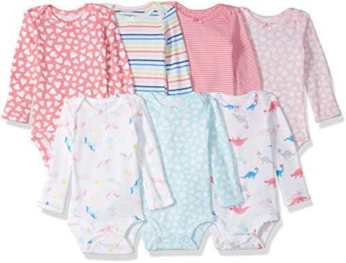 Carters Girls 7 Pack Long Sleeve Bodysuits product image