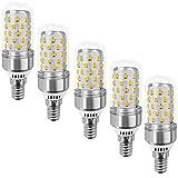 MATMO 12W E14 LED Bulbs (5 Pack), E14 Base Candelabra LED Light Bulb, LED Corn Bulb, 100 Watt Light Bulb Equivalent, AC 85-265V 1100LM LED Lights LED Chandelier Bulb (Warm White, Smooth Surface)