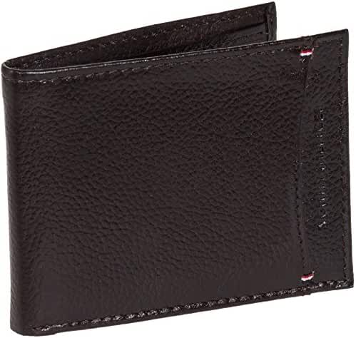 Tommy Hilfiger Men's Pebbled Leather Billfold Wallet