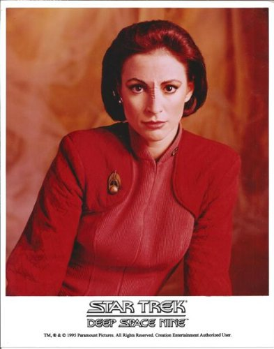 Nana Visitor as Major Kira from Star Trek: Deep Space Nine close up in uniform 8 x 10 photo