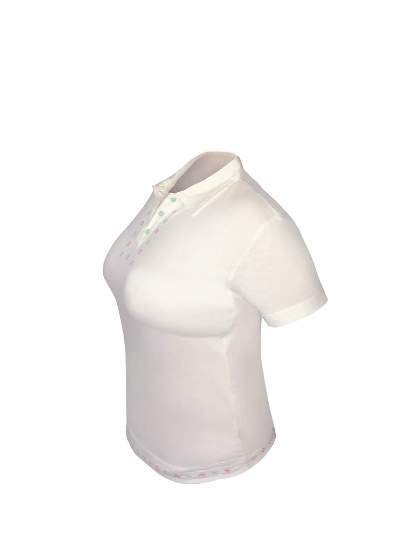 Super Morbida Polo Sportiva 100/% Cotone Pima Moose Sportswear Daisy progettata per Avventure