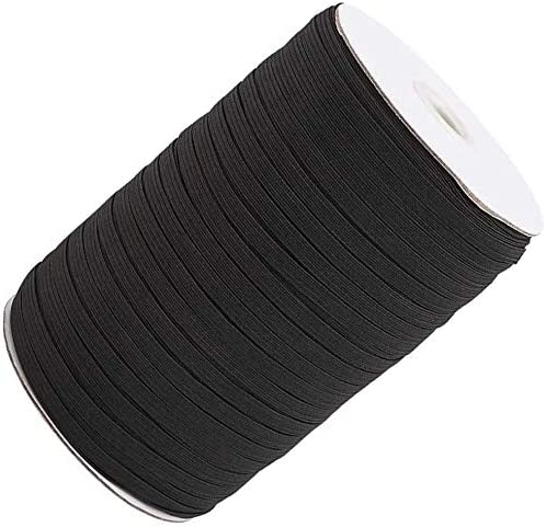 Cord Sewing Craft DIY Mask and Bedspread Cuff 100 Yards Elastic Band for Sewing 1//2 inch Black High Elasticity Flex Fabrics Strap Braided Elastic Rope Bungee for Handmade Making