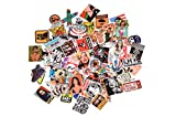 3Tyto store Sticker 100 pcs Random fashion cartoon waterproof Hard Hat, Tool Chest, Lunch Box ETC Stickers