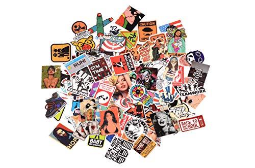 3Tyto store Sticker 100 pcs Random fashion cartoon waterproof Hard Hat, Tool Chest, Lunch Box ETC Stickers by 3Tyto (Image #6)