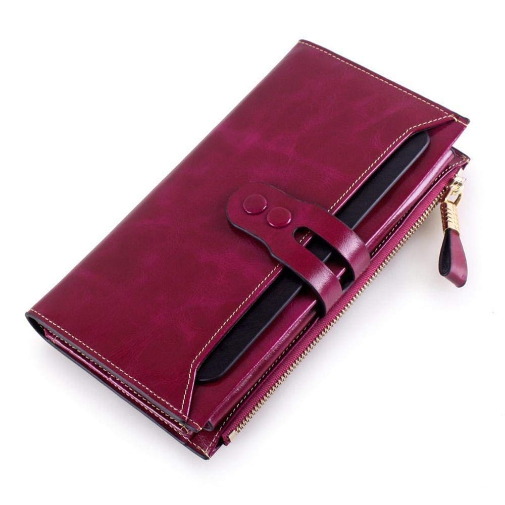 Girls Purse Women's Wallet Ladies PU LeatherWallet LargeCapacity Retro Pack