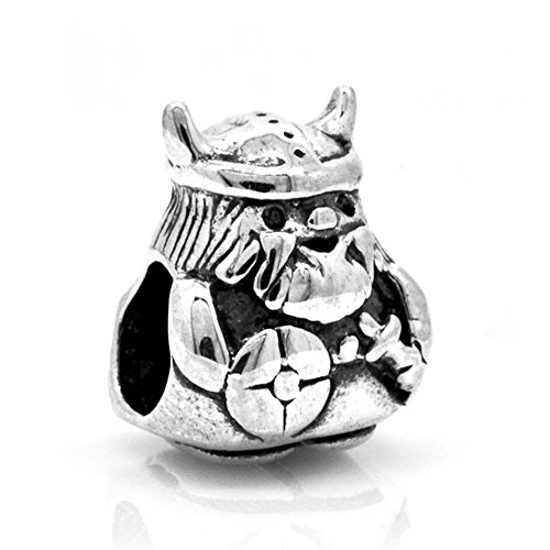 Everbling Viking Warrior 925 Sterling Silver Bead Fits