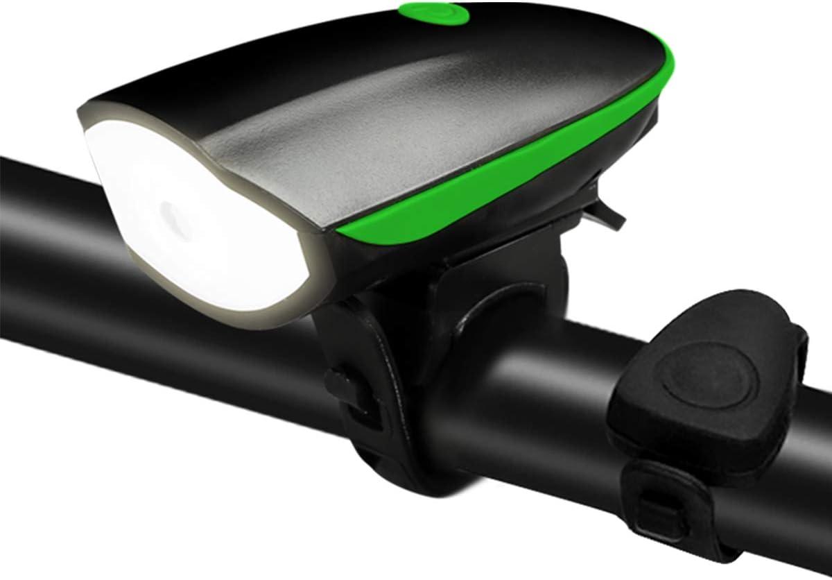 3 modes /étanche durable ROOTE Lampe de v/élo rechargeable par USB avec sonnette de v/élo compatible avec tous les v/élos l/éger /éclairage avant et arri/ère installation instantan/ée