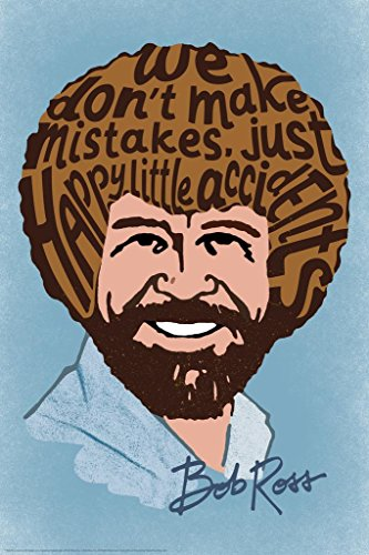 Bob Ross Happy Little Accidents Word Bob Ross Poster Bob Ross Collection Bob Art Painting Happy Accidents Motivational…