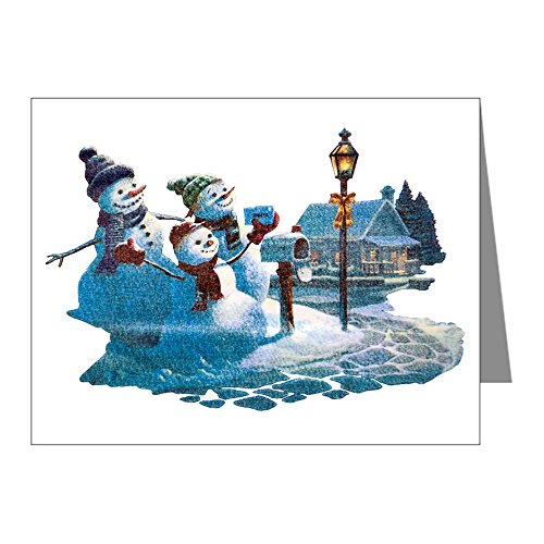 Note Cards (10 Pack) Christmas Snowman Mailing Santa