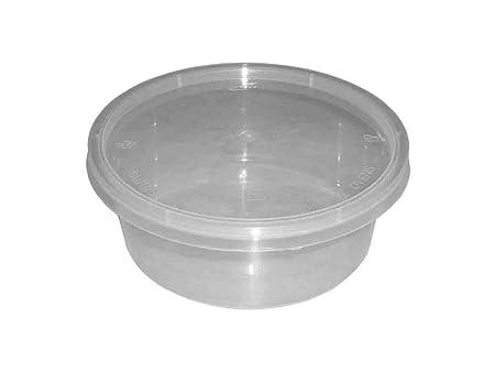 50 redondo 10 oz Plástico transparente apta para microondas/horno ...