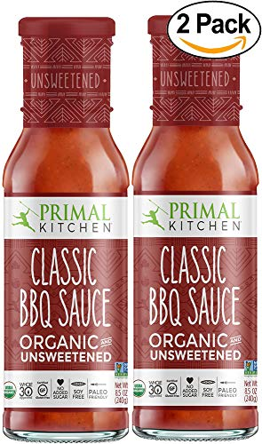 (Primal Kitchen's Classic BBQ Sauce, Organic & Unsweetened, 8 oz, Pack of 2)