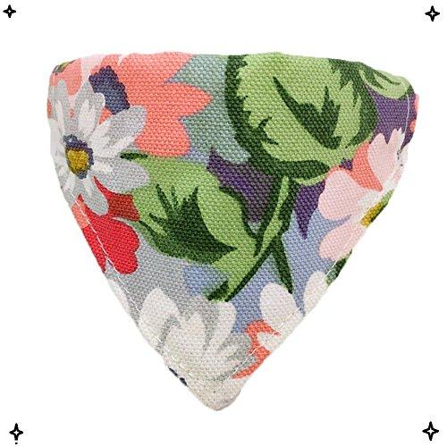 og Bandana Triangle Bibs Scarf Soft Suede Collar Neckerchief for Puppy Kitty Rabbit, Orange Cat Pattern/Flower Pattern ()