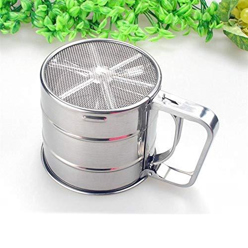 FidgetKute Cupulate Flour Mesh Sieve Flour Sifter Stainless Steel Silver Net Sifting