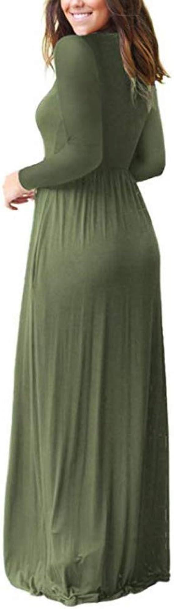 ZNYSTAR Mujer Casual Playa Verano Estidos Largos Maxi Vestido con Bolsillo: Amazon.es: Ropa y accesorios