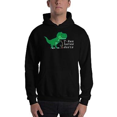 4ea674679b Black Unisex Pullover Hoodies T-rex Hates Darts Dinosaur Darts Player Funny  Darts Heavy Blend