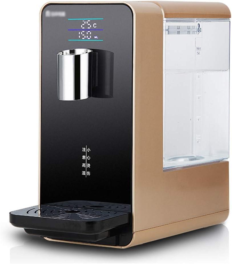 温水ディスペンサー-コンパクトなインスタント温水ディスペンサー、温度調節可能-子供用安全ロック、家庭用安全スマート飲料水マシン