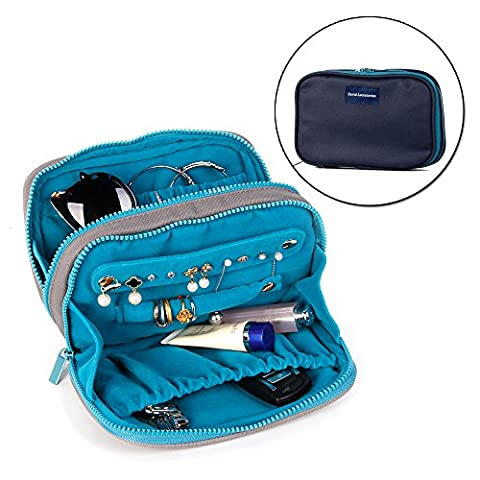 Jewelry & Accessories Travel Organizer Bag Case Waterproof Canvas Velet Fabric With Zipper (8