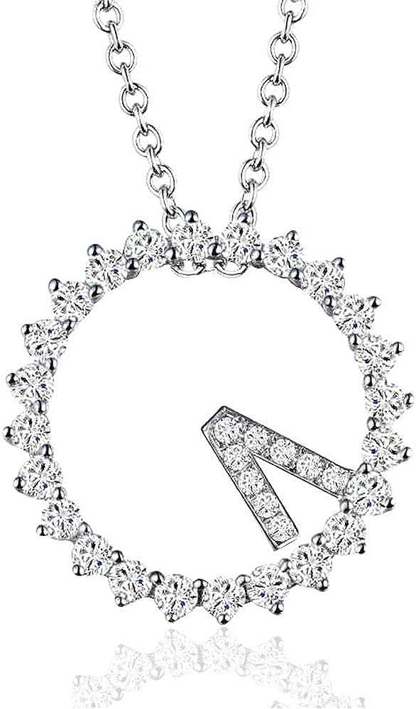 JUGTL S925 artículo de Plata Decorado con Colgante de Reloj de Cadena de clavícula Collar de señoras