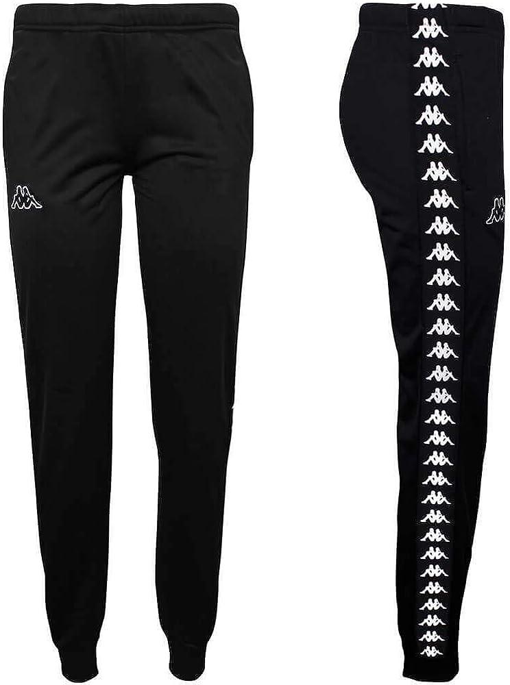 Kappa 303R5K0 222 Pantalones de chándal Mujer Negro XL: Amazon.es ...