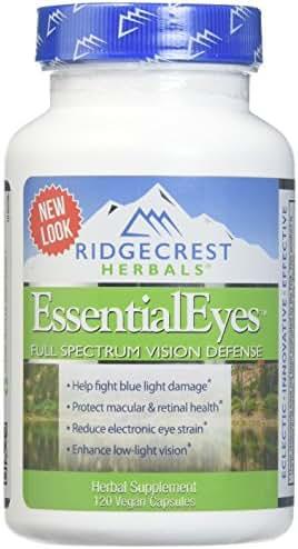 RIDGECREST HERBALS Essential Eyes 120 Capsules, 0.02 Pound