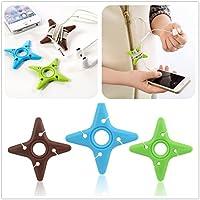 Take 5/20/50/100 Pcs Cute Multicolor Soft Silicone Rubber Fish Bone Fishbone Ninja Darts Star Key Cord Winder Cable... dispense