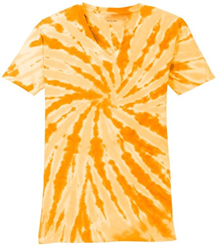 Joe's USA Koloa Surf Ladies Colorful Tie-Dye V-Neck -
