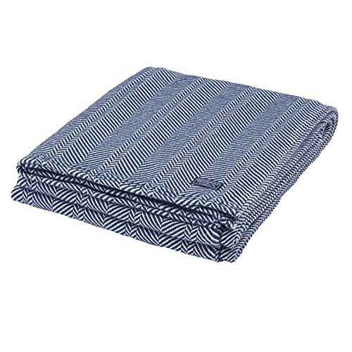 - Faribault Cotton Herringbone Throw Blanket, Midnight Blue (50x72)