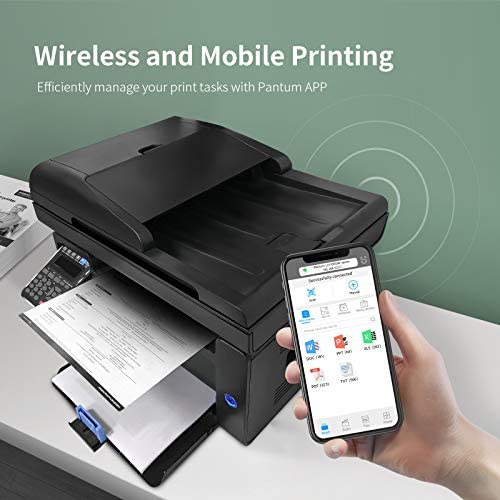 All in One Laser Wireless Printer, Duplex Printing, Copy Scan Convenient, Auto Document Feeder & Fax Mobile Printing Pantum M6602NW