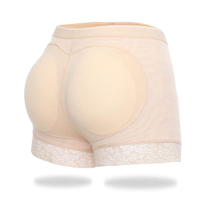 4c6c9fe05 Butt Lifter Padded Panties for Women Hip Enhancer Shapewear Underwear Fake  Buttock Hip Lace Boyshort (