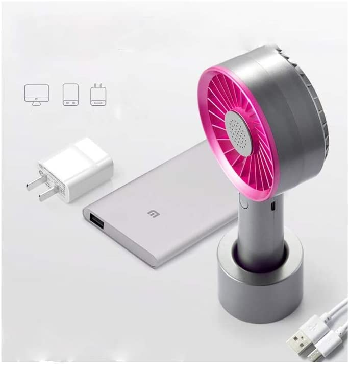 HongTeng Mini Portable Electric Fan USB Charging 2000 MAh Three-Speed Silent Wind for Family Travel Office Color : Purple
