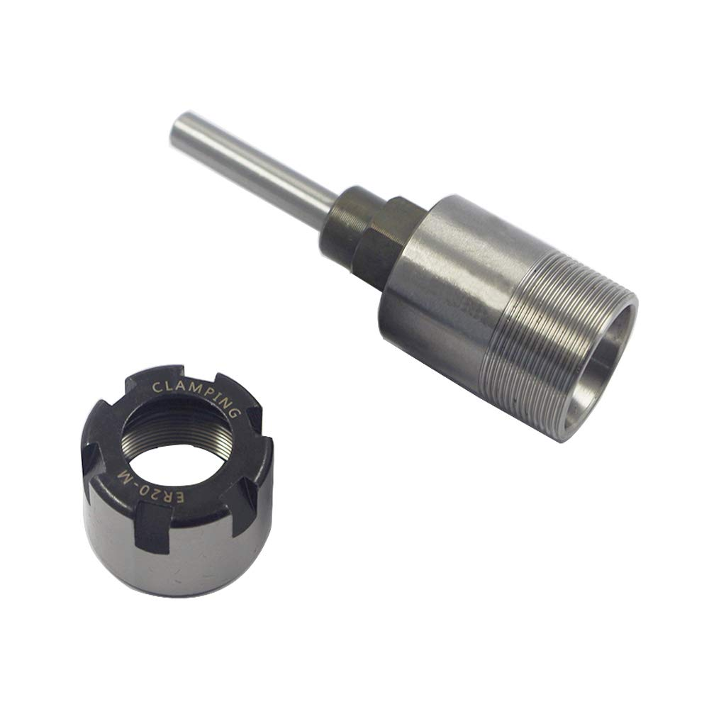 Eyech Heavy Duty 1//4 Inch Shank Router Collet Extension Rod Chuck Holder Extender Adapter Woodworking Milling Bit for 1//4 Inch Shank Drill Bit with 6.35mm Chuck