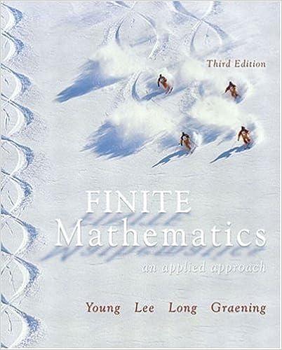 By Paula Grafton Young - Finite Mathematics: An Applied
