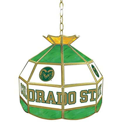 Image of Billiard Lighting NCAA Colorado State 16-Inch Stained Glass Tiffany Lamp
