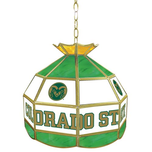 16-Inch Stained Glass Tiffany Lamp (Ncaa Colorado State Rams Glass)
