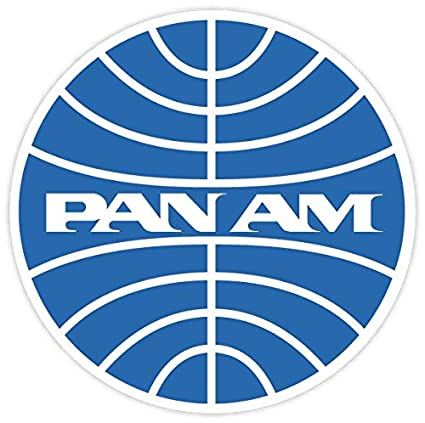 Amazon Pan Am American Airlines Vinyl Sticker Decal 4x4