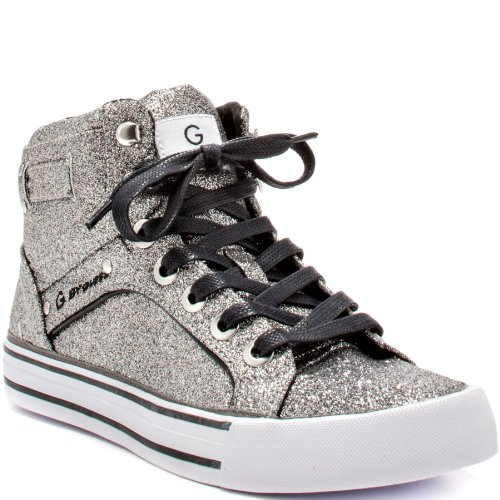 G By Guess Opall Womens Size 10 Silver Fabric Sneakers Shoes