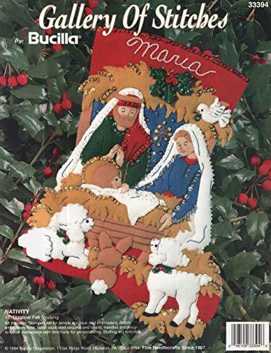 Bucilla Nativity Felt Applique Stocking Kit 33394-15