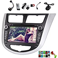 GPS Android 5.1 Capacitive Touchscreen BT Music Audio Video Car Stereo Automotive Radio Car DVD Player For Hyundai Verna 2010-2015 Accent Solaris I20 Autoradio In Deck RDS Sub AMP Quad Core