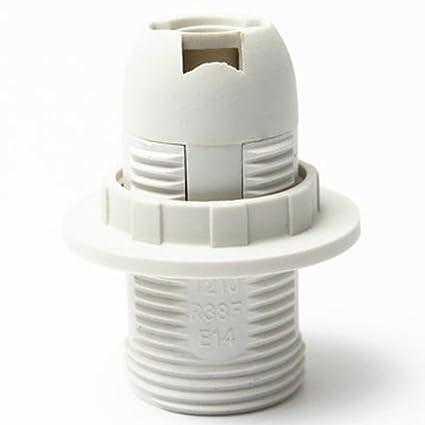 Practical E14 Light Bulb Lamp Holder Plastic Pendant Socket Lamp