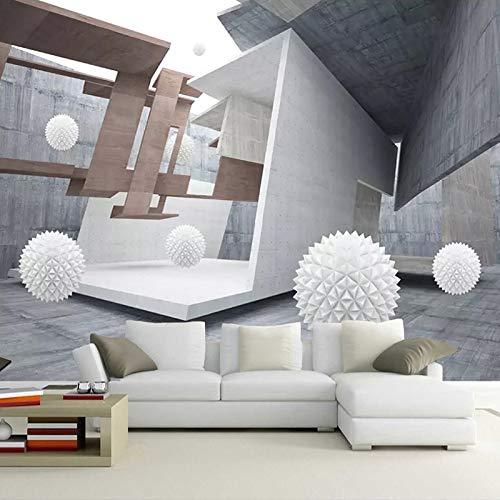 Paper Mural - Custom Wall Mural Modern Creative Geometric Space 3d White Ball Tv Background Photo Wallpaper Living - VaseBorder Bedroom Roll Italian Minimalist Chinese White Circles - Circle Ledger