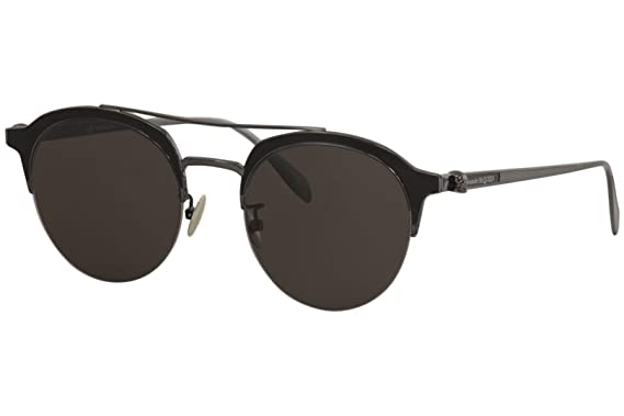 Amazon.com: Alexander McQueen AM0214SA AM/0214/SA 001 ...
