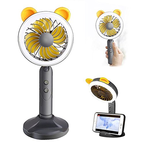 Rechargeable Fan And Led Light Portable