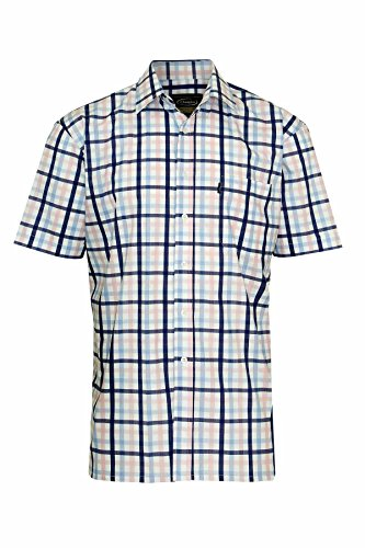Para hombre Champion diseño de cuadros erlebnisse Casual de manga corta camiseta de manga corta de polialgodón Blue Check