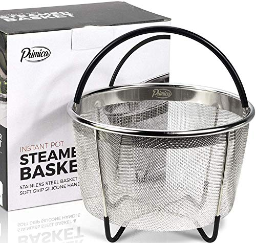 Primica 6 Quart Steamer Basket Instant Pot Accessories Compatible with the Instant Pot Pressure Cooker  Easily One of The Most Durable Instant Pot Accessories