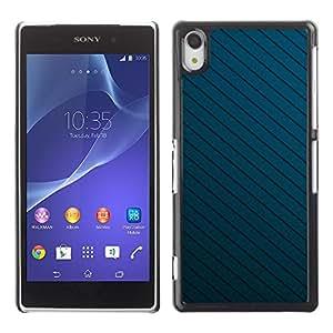 Be Good Phone Accessory // Dura Cáscara cubierta Protectora Caso Carcasa Funda de Protección para Sony Xperia Z2 D6502 D6503 D6543 L50t L50u // Texture Blue Lines