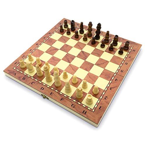 Juego de ajedrez de calidad hecha a mano piezas de madera completas que cumplen con la FIDE para estimular tu cerebro…