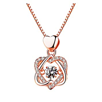 Beautiful two tone fashion jewellery love heart charm double chain long necklace